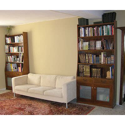 Matching Bookshelves by Solid Wood Matching Walnut Bookcases