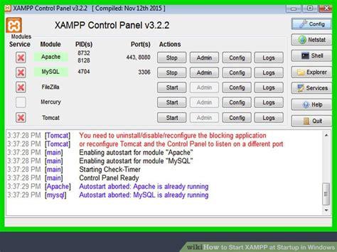 start xampp  startup  windows  steps  pictures
