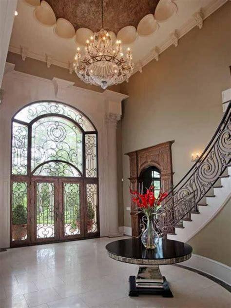 wrought iron stairs  door beautiful foyer foyer