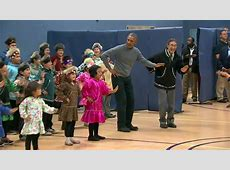 Obama busts a move with Alaskan middle schoolers CNNPolitics