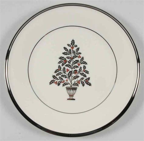 lenox solitaire christmas christmas tree salad plate