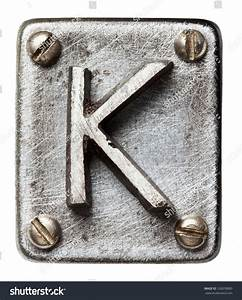 old metal alphabet letter k stock photo 126078860 With metal letter k