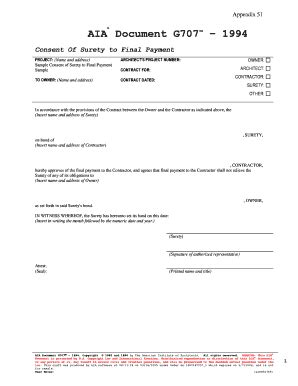aia g707 form download g706a fill online printable fillable blank pdffiller