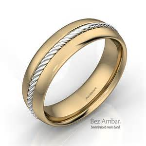 mens wedding bands two tone 18k two tone gold wedding band