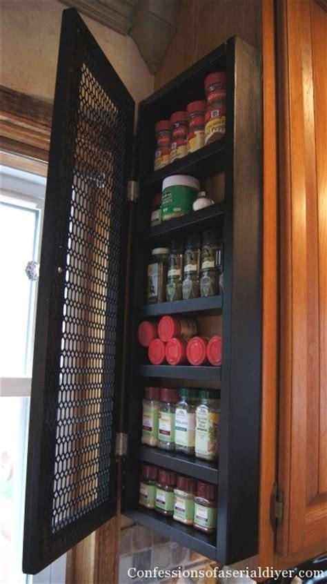 kitchen spice storage ideas diy spice cabinet and 17 more kitchen organization ideas