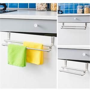 Towel, Bar, Freely, Retractable, Over, Cabinet, Stainless, Steel, Storage, Rack, Towel, Hanger, Shower, Shelf