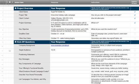 Free Creative Brief Templates Smartsheet
