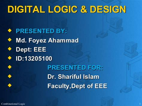 digital logic design digital logic design dld presentation