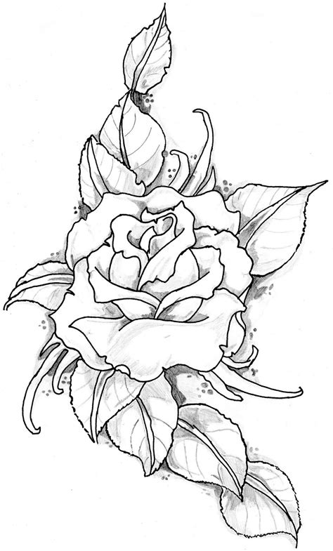 Free Tattoo Stencils | Free Download Delicious Doodles Shop Rose Corner Design #31492 With