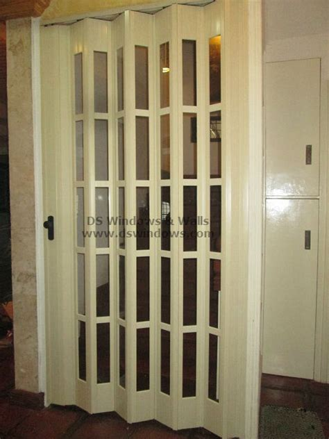 full glass french type folding door  staircase door las