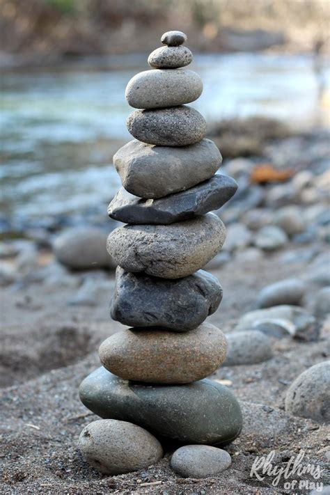 Rock Balancing Stone Stacking Art Steam Activity For Kids