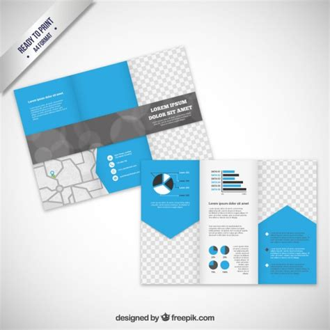 Modern Brochure Template by Brochure Template In Modern Style Vector Free