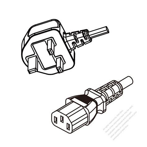 malaysia 3 pin to iec 320 c13 ac power cord set