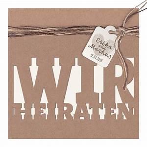 Dhl Karte Bestellen : minimalistischer entwurf wir heiraten auf packpapier mit k rtchen und dreif rbiger schnur ~ Avissmed.com Haus und Dekorationen