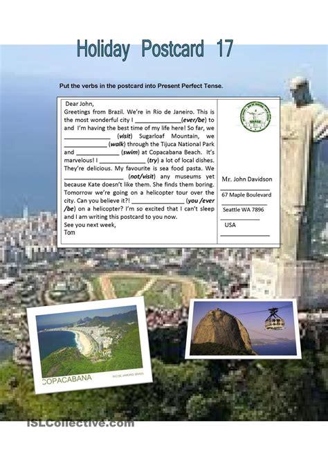 Holiday Postcard 17 Worksheet  Free Esl Printable Worksheets Made By Teachers  Every Teacher