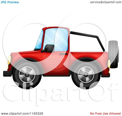 red jeep clipart cartoon of a red jeep royalty free vector clipart by