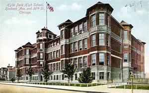 Hyde Park High School, Chicago Illinois Vintage Postcard