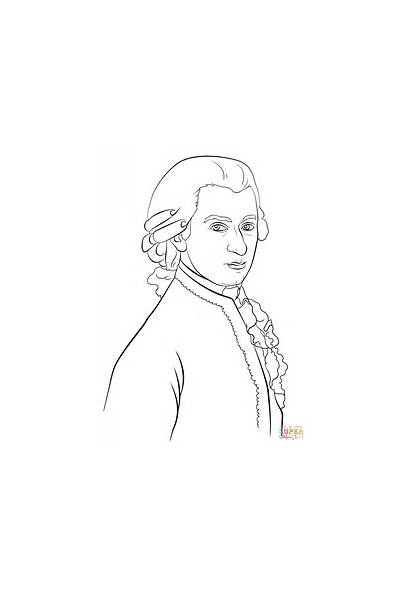 Mozart Coloring Printable Colorear Colorare Disegni Drawing
