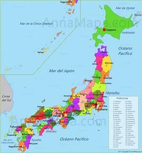 Mapa de Japón AnnaMapa