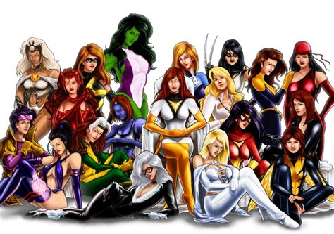 Women Of Marvel, In Agus Prajogo's Marvel Girls Comic Art