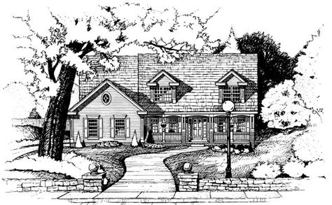 house plan    bedroom  sq ft country traditional home tpc