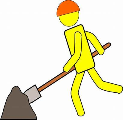 Digging Dig Clipart Clip Cliparts Worker Construction