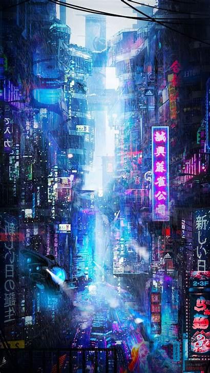 Neon Future Rain Vibe Galaxy Sony Samsung