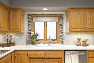Kitchen Backsplash Ideas With Oak Cabinets Fantastic Painting Oak Cabinets Before And After Decorating Ideas Images In Kitchen Eclectic