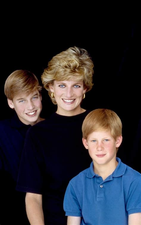 Princess Diana and Her Son Harry