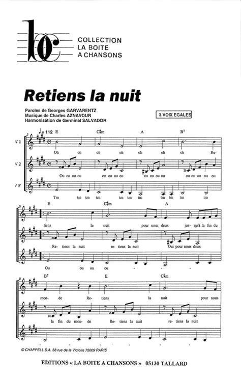 Serre Moi Chords by Retiens La Nuit 2000 Tv Movie Internetauthentic