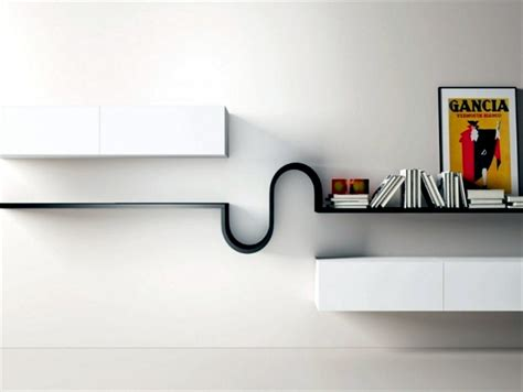 fabulous minimalist shelves   living room