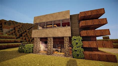 contemporary survival house  minecraft building
