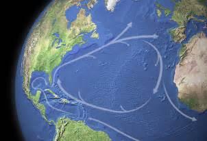 North Atlantic Ocean Currents Map