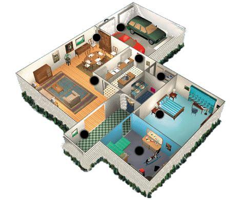 plan maison en  ouvert  toit plat avec garage plans