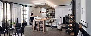 cuisine moderne ambiance parisienne mobalpa With salle À manger contemporaine avec cuisine Équipé avec Électroménager pas cher