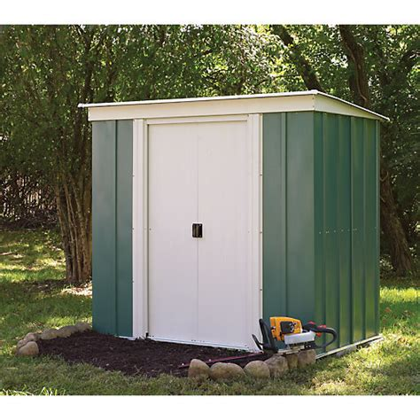 pent metal shed rowlinson door metal pent shed without floor 6 x