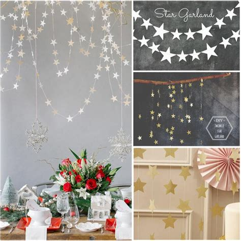 star party decoration paper garlands wedding screen