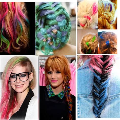 Multi Colored Clip In Hair Weaving Extension Synthetic