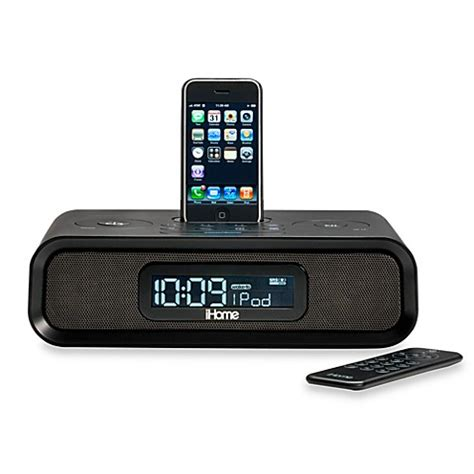 iphone clock radio ihome 174 dual alarm clock radio for iphone and ipod 174 bed