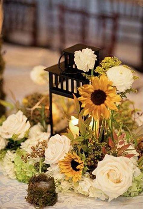 cheerful sunflower wedding centerpiece ideas