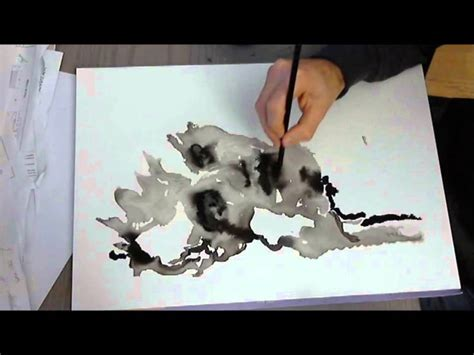Abstract Portrait With India Ink Full Painting Encre De