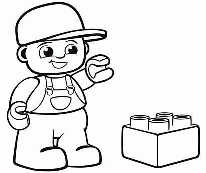Lego Coloring Pages Duplo Blocks Boy Printable