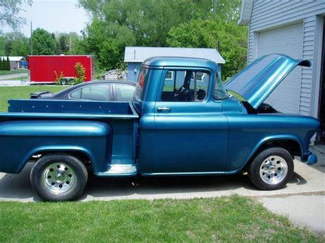 Sell Used 1956 Chevy Stepside Pickup In Bay City, Michigan