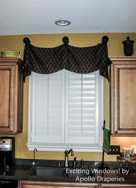 kitchen design curtains medallion top flat kingston with wood shutters soft 1173