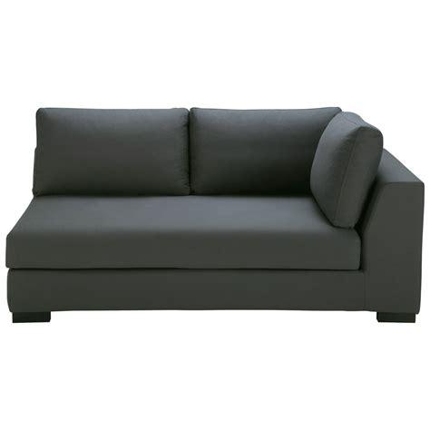 canapé couchage permanent canapé convertible modulable accoudoir droit en coton gris