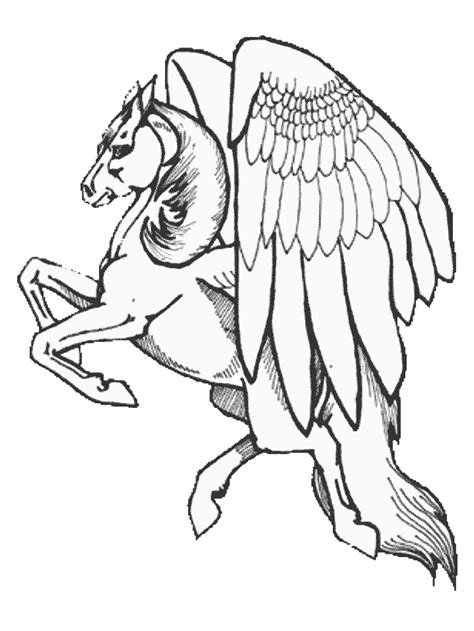 pegasus  fantasy coloring pages coloring book