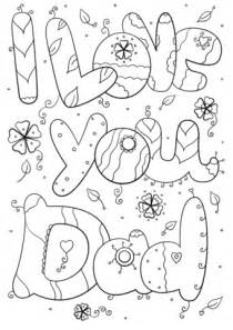 I Love You Dad coloring page   Free Printable Coloring Pages