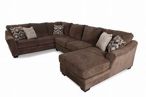 Ashley 3 piece sectional mathis brothers furniture for Sectional sofas mor furniture