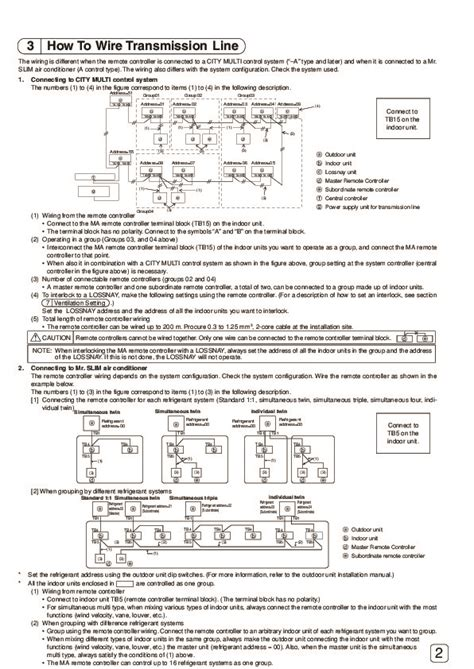 Mitsubishi Remote Manual by Mitsubishi Mr Slim Par 20maa Remote Controller Air