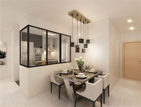 Modern Hdb Interior Design, Dining Area & Kitchen Dining